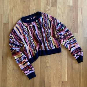 Coogi style cropped sweater